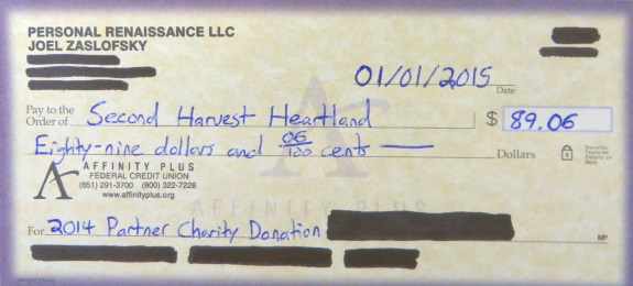 Partner Charity Contribution