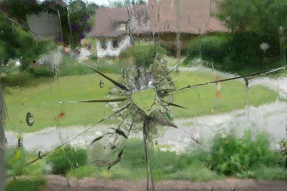 Broken Window with Love