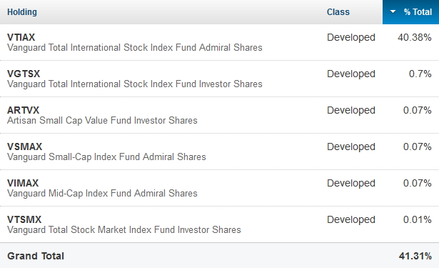 Personal Capital Asset Allocation Micro Level